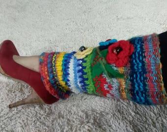 Crocheted leggings, modern, chic