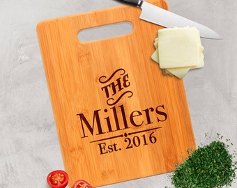 Personalized Bamboo Cutting Board - Personalized Anniversary Gift - Custom Cutting Board