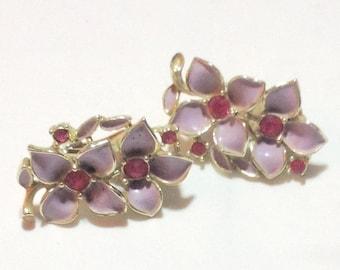 Sarah Coventry Vintage Flower Earrings