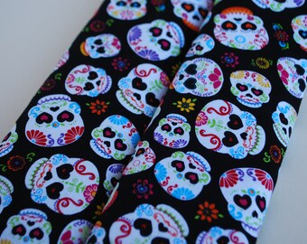Seatbelt covers car 1 pair Sugar skulls  patterned  seatbelt covers