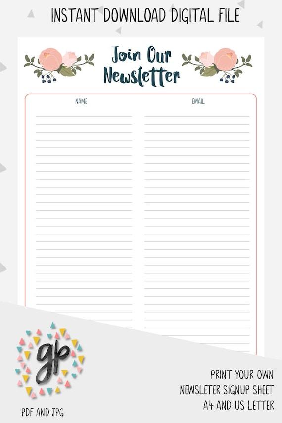 email signup sheet - Romeo.landinez.co