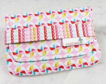 Sanitary Pad Holder, Pink Pinwheels, Tampon Case, Sanitary Pad Case, Tampon Holder, Sanitary Napkins, Period Case, Girly Scallops, Card Case