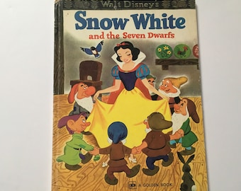 Vintage Large Snow White Golden Book
