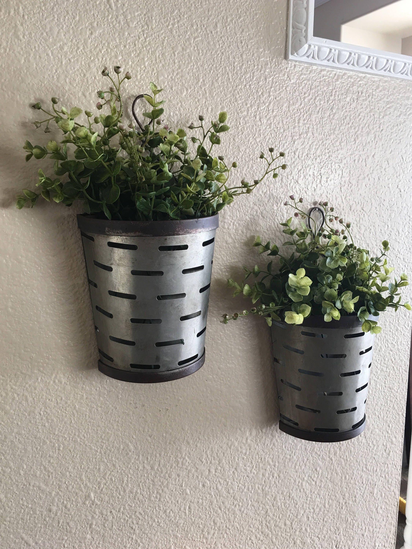 Olive bucket wall vases rustic wall vase rustic wall decor zoom reviewsmspy