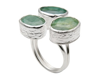 light green Emerald Ring