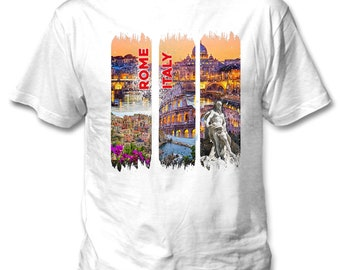 Rome Italy 2 - Man new cotton white t-shirt