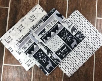 Woodland Baby Flannel Burp Cloth Set, Woodland Burp Cloths, Baby Shower Gift, New Mom Gift, Burp Cloths, Burp Rags, Flannel Burp Cloths