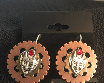 Devil Steampunk Earrings