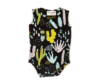 Cactus Onesie- Succulent Onesie- Organic Baby Boy Clothes- Organic Baby Girl Clothes- Baby Gift- Baby Christmas Gift- Cactus Print