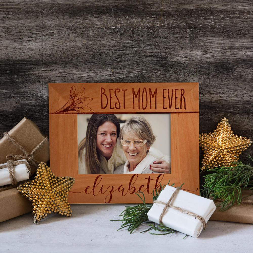Personalized Best Mom Ever Photo Frame Custom Engraved Frame For