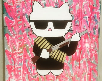 Hello kitty wall art
