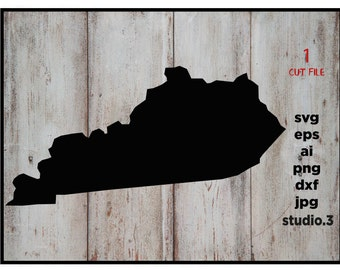 Kentucky outline SVG instant download design for cricut or silhouette