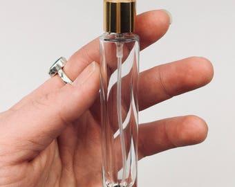 9ML roller bottle OR spray bottle- You choose! Slim, clear glass, glass roller ball