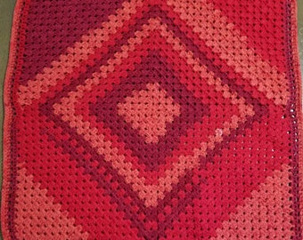 Wild cherry, color changing baby blanket