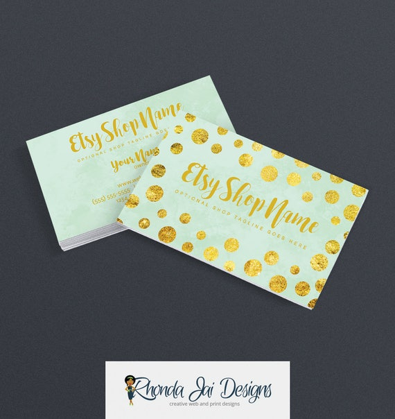 Business cards for etsy shop 2 sided printable business card like this item colourmoves Image collections
