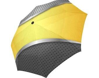 Yellow Umbrella Grey Umbrella Designed Umbrella Metallic Pattern Umbrella Art Umbrella Photo Umbrella Automatic Foldable Umbrella