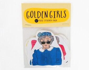 Golden Girls - 12 piece sticker set - Golden Girls sticker pack - Golden girl stickers - Blanche - Rose - Dorothy - Sophia - Betty White
