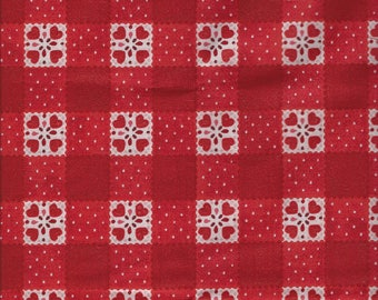 Sugar Berry Goody Basket Metallic Radiant Cherry Fabric By The Fat Quarter -- FREE SHIPPING