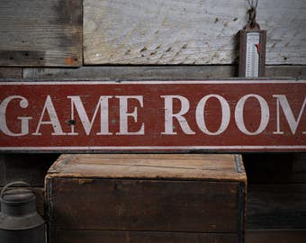 Game Room Sign, Game Room Decor, Game Room Gift, Decor For Game Room, Gameroom Decor, Decor Game Room - Rustic Hand Made Wooden Sign