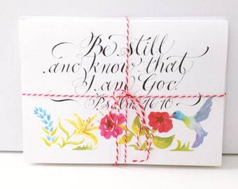 Be Still and Know Watercolor Notecard Pack