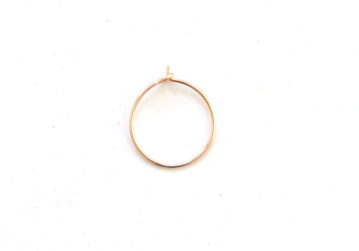 thin ROSE GOLD nose ring thin rose gold nose hoop rose gold