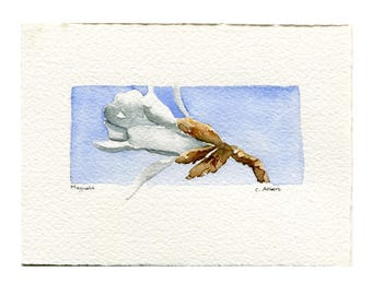 Miniature Original Watercolor Painting - Art Card
