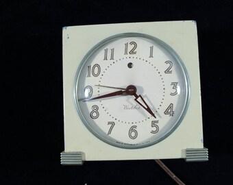 Westclox Electric 1950s alarm clock