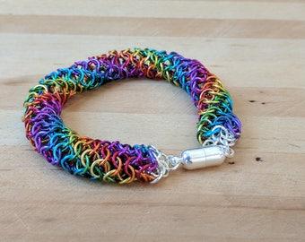 Candy Lollipop Rainbow EuroTube Chainmail Bracelet