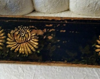 Antique Chinese Hand Painted Wood Tray