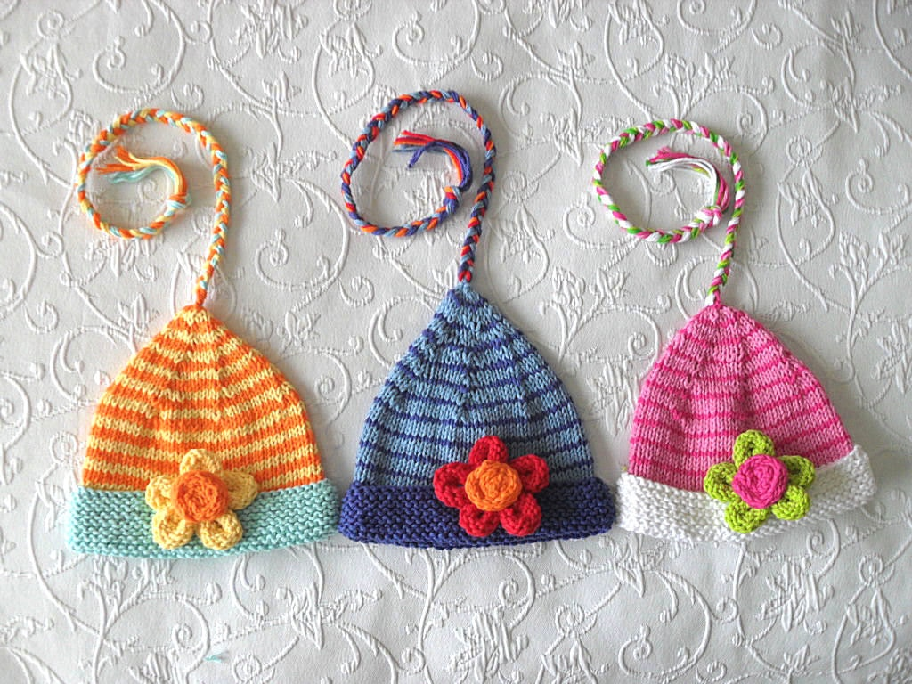 Knitted Hat Pattern Instant Donwload Baby Hat Pattern Christmas Elf ...