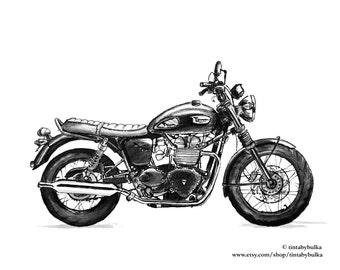 Triumph Bonneville Triumph Motorcycle Classic Motorcycle Gift Men Motorcycle Gift Triumph Gift British Motorcycle Motorcycle Gift Him