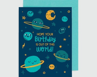 Birthday Card - Out of this World Birthday