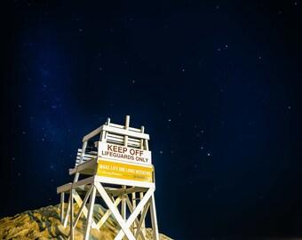 Night sky over Jones Beach