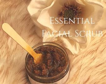 Essential facial scrub