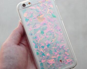 Holographic Hologram Flake iPhone 5/6/6 Plus/7/7 Plus/8/X Case