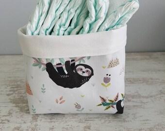 For diaper storage basket - pattern lazy - empty Pocket