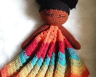 Doll Lovey Blanket - Crochet Security Blanket