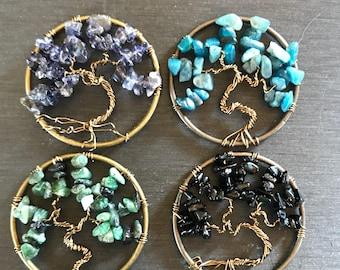 Tree of Life Pendant, Custom Order, Wire Tree Necklace, Gemstone Tree, Inspirational Necklace