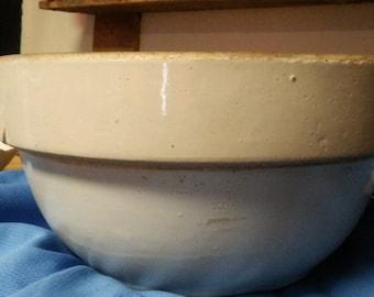 White Stoneware Mixing Bowl