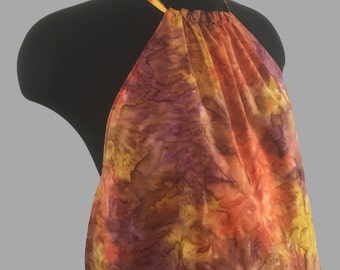Reversible Tie-dye and Hawaiian Halter!!! Backless. Beach and Party Top