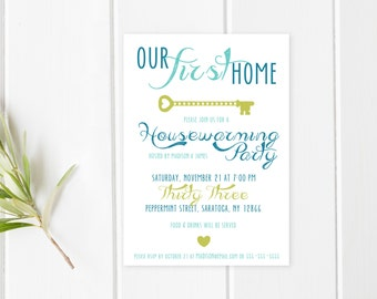 Housewarming Party Invitation, Housewarming Invitation, Printable Invitation, Our First Home, Our New Home, Housewarming Invitations [68]