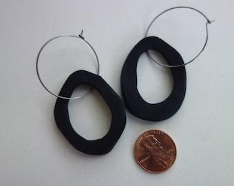 Ceramic Earrings - Black shapes - variety