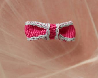 set of 2 pink and gray bowties