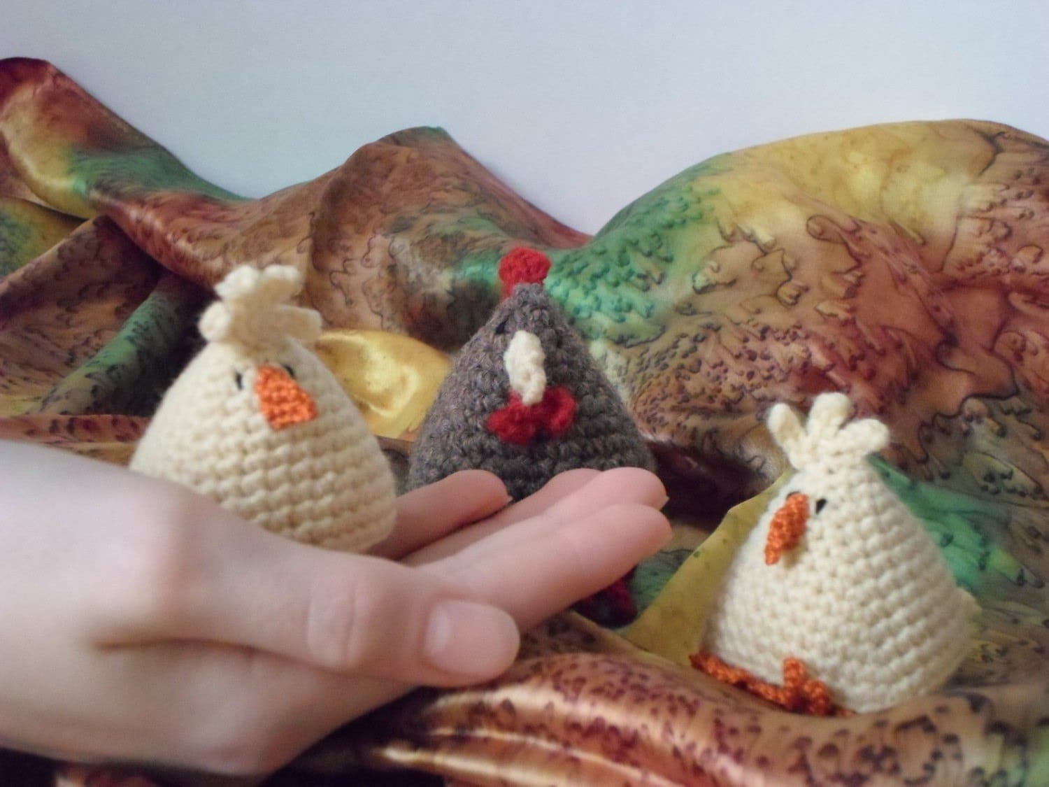 US crochet pattern for chicken and chick / pdf / instant