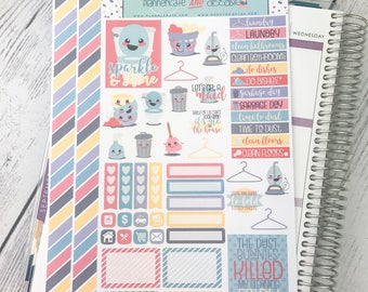 DP28 || CHORES Planner Stickers - PlannerKate & DorkyDoodles (Removable Matte Stickers)