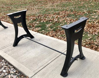 Dining live edge table legs cast iron industrial antique dining live edge table legs cast iron industrial antique modern ready to ship now watchthetrailerfo