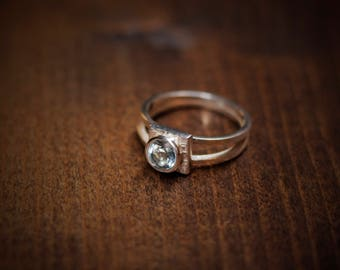 Silver and Topaz Ring