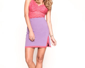 Pink and Purple Chemise