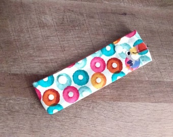 "OOAK Fruit Loops DPN Cozy Needle Minder for 6-7"" Knitting Needles"