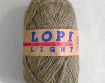 Vintage LOPI LIGHT 100% Icelandic Wool Yarn - Heathered Brown Gray